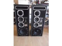 GOODMANS HE1 high efficiency floorstanding speakers - 85 watts RMS per speaker