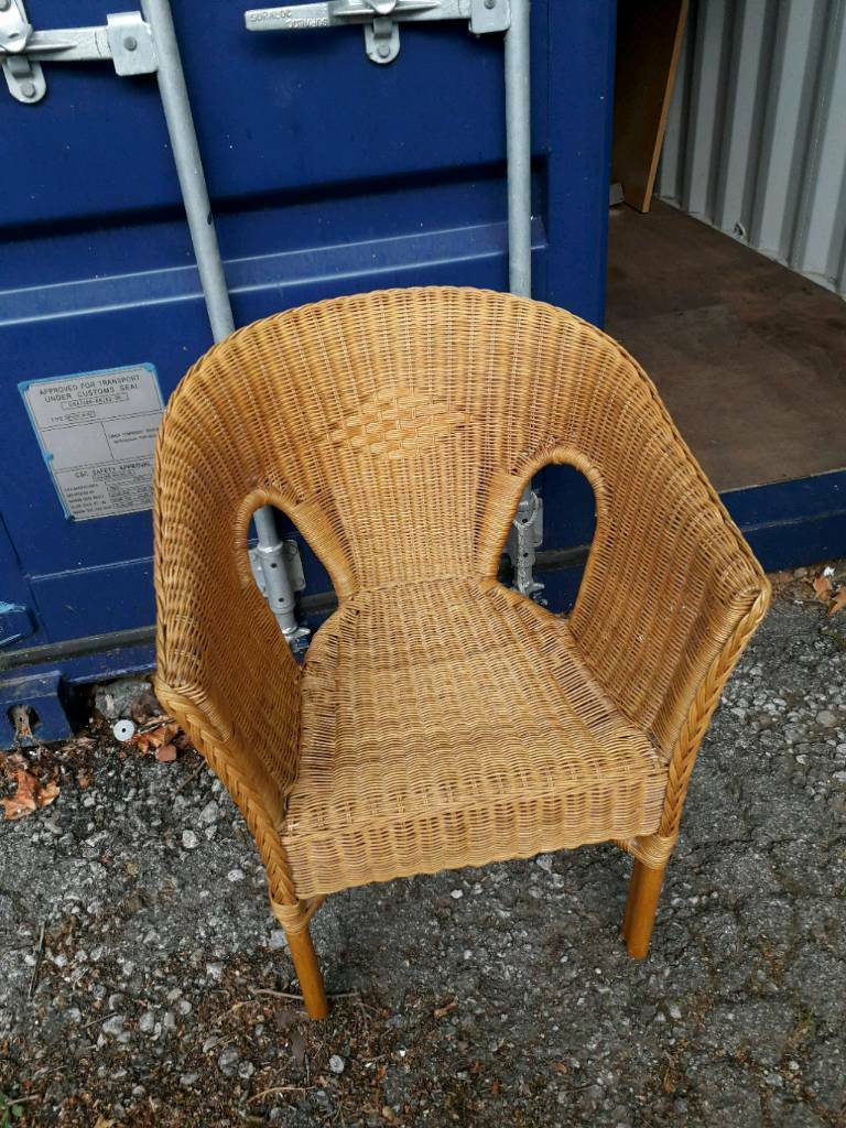 AGEN Chair rattan, bamboo | Blue