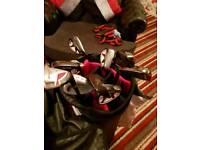 MacGregor m59 irons and a Dunlop cart bag