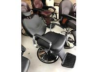 New Black reclining salon barber chairs for hair cutting BX-1045B,more than 100 chairs available uk