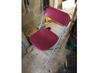 2 sturdy collapsible chairs