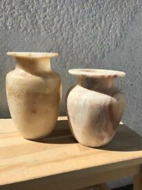Pair of Stone Vases