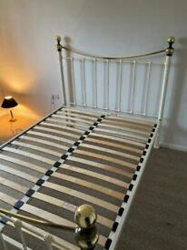 Laura Ashley metal double bed frame