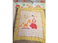 Nursery rug, curtains and duvet