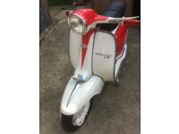 Lambretta Italian 125 Special with mugello 200cc engine all highly restored