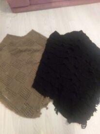 Black and brown ponchos size medium