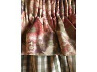 Pair curtains 140cm drop 130 cm wide