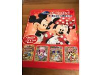 Beautiful set of 4 books ex con Mickey Mouse