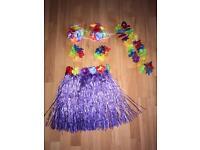 Hawaiian set one size 40cm skirt purple