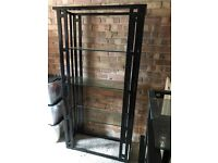 Art Deco style black and glass living room furniture