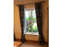 Blue and Brown luxury Curtains