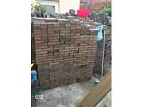Used Block paving, red & black, paviers, Bricks,