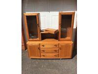 Ercol sideboard dresser display cabinet