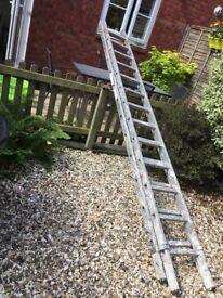 Aluminium extended ladders