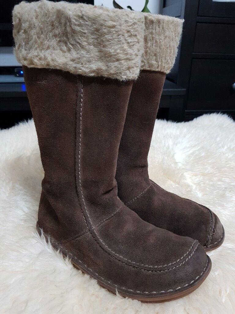 7fe04d85ba3d Clarks Girls Boots - Size 13 - Brown Suede. Preston ...