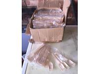Wooden cutlery around 900 of each