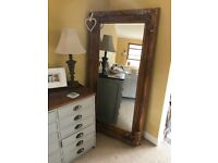 Stunning huge ornate French style mirror