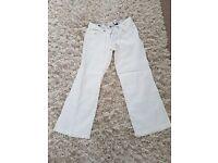 River island white linen trousers