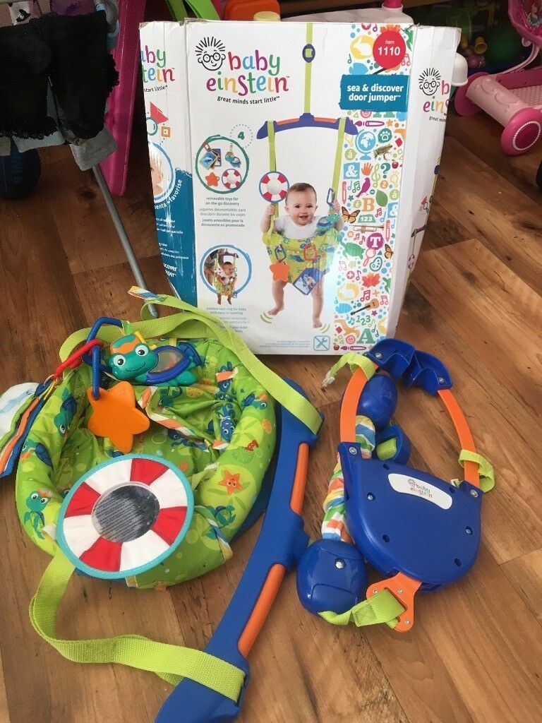 be4ab416a Baby Einstein sea and discover door jumper