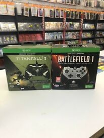 Limited edition Xbox One wired controller battlefield 1 Titanfall 2 new £30 available now