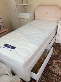 Silentnight Single Divan Storage Bed