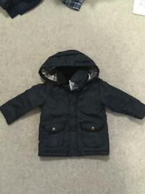 Navy Waxed Jacket 12-18 months