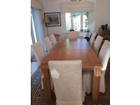Solid Oak Marks & Spencer Sonoma Extendable Dining Table - Seats 6 to 8
