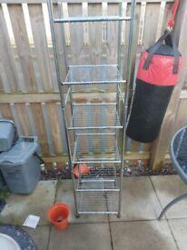 Metal tier shelving planter