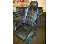 GT Force reclining gaming office faux leather chair