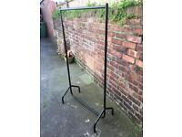 Sturdy black clothes rail