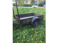 braked box trailer