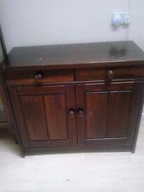 Sideboard dark brown 07514056225 £40.00