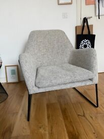 Frame Armchair, Basketweave Grey from MADE
