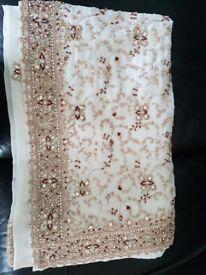 White saree from PAYAL