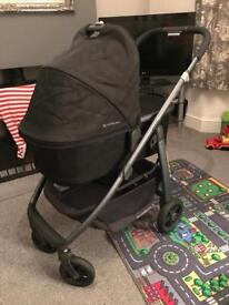 Uppababy Cruz 2015 pushchair, carrycot & car seat adaptors