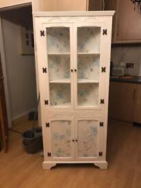 Shabby chic corner unit /bookcase