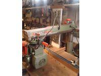 """For sale Dewalt 1370 radial arm saw 4"""" depth of cut .quiet smooth motor £295."""