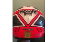 Kids Moto X helmet in size Small