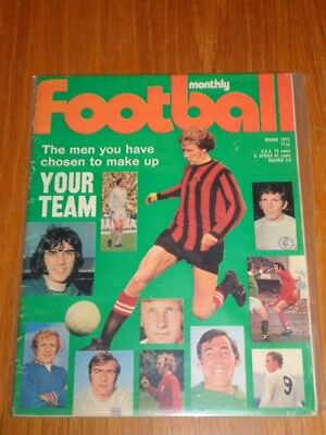 FOOTBALL MONTHLY MARCH 1972 GEORGE BEST ENGLAND UK MAGAZINE (Best Football Magazine Uk)