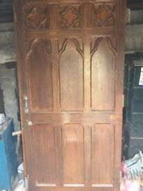 Only 4 remaining - Authentic solid wood antique reclaimed cathedral doors x 7
