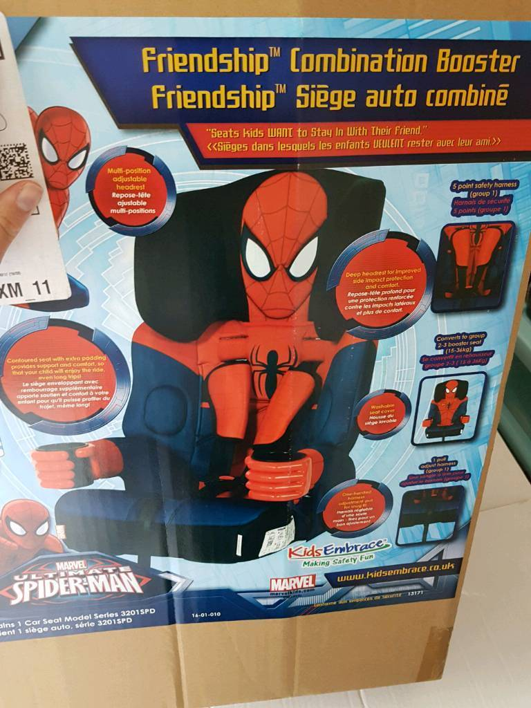 Spiderman Car Seat Group 1 2 3 By Kids Embrace