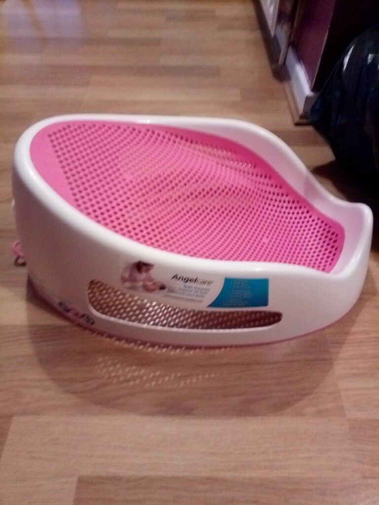 Angelcare bath seat/nest pink