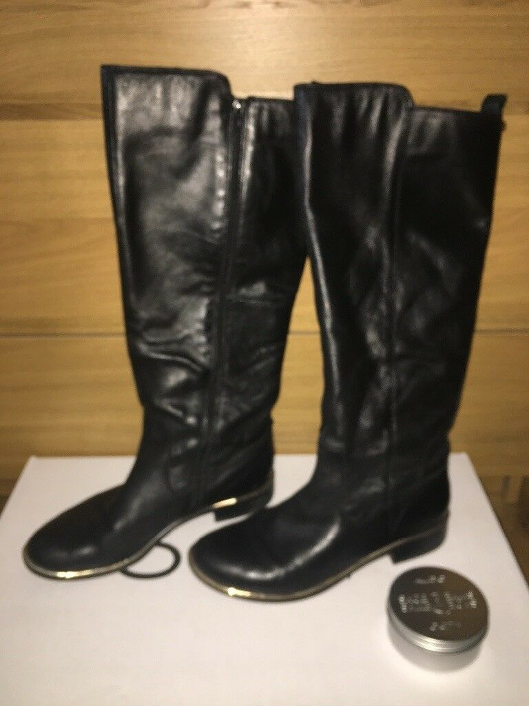 ALDO Knee High Boots, Size 7, with Gold Trim £30 ONO