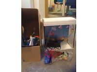 18ltrs fish tank with full set to start it up including filter, fish food, accessories etc.