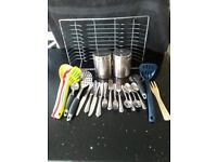 Selection of kitchen utensils