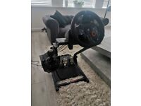 Logitech G29 PS4 steering wheel with shifter and GT Omega frame
