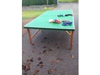 FREE ! Hand made wooden table tennis table, inc nets, bats, balls