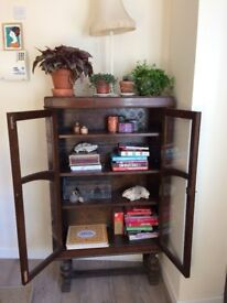 Vintage Shabby Chic Wooden Cabinet Book case