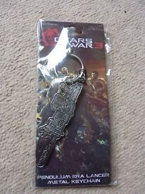 Collectible Gear Wars 3 Pendullum ERA Lancer Metal Keychain, key ring