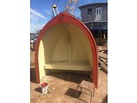 Garden seat bow of a boat garden seat